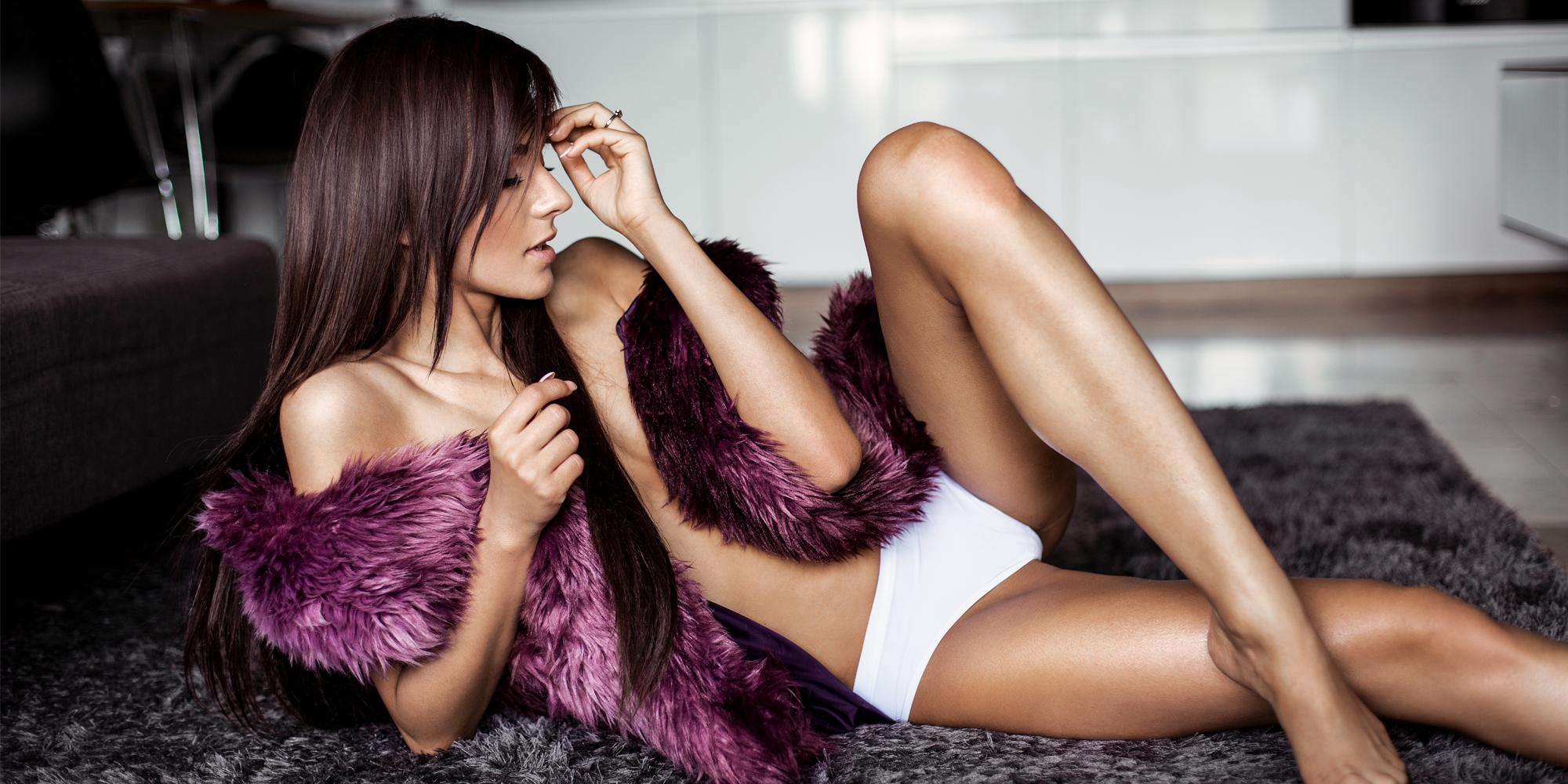 Purple Fur – Boudoir Session